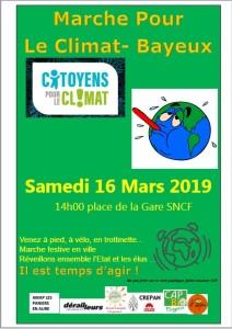affiche marche pour le climat mars19