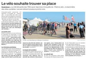 Ouistreham : le vélo souhaite trouver sa place