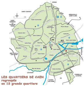 Les 12 quartiers de Caen